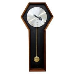 Mid-Century Modern Umanoff for Howard Miller Hexagonal Meridian Wall Clock 1970s