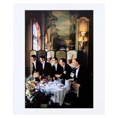 Mid-Century Modern Unframed Photograph Waiters Chefs Signed Elliott Erwitt, 1969