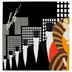 Mid-Century Modern Unframed Rare Vintage Erte Art Poster, 1970s