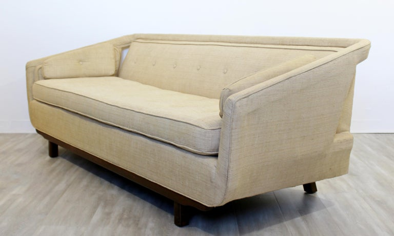 Mid-Century Modern Unique Sculptural Sofa Attributed to Dunbar or Laszlo, 1960s In Good Condition For Sale In Keego Harbor, MI