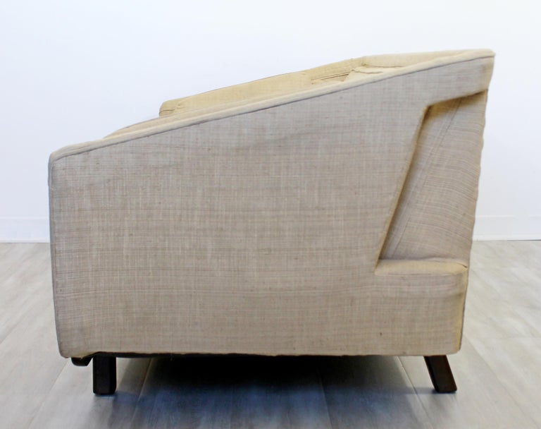 Silk Mid-Century Modern Unique Sculptural Sofa Attributed to Dunbar or Laszlo, 1960s For Sale