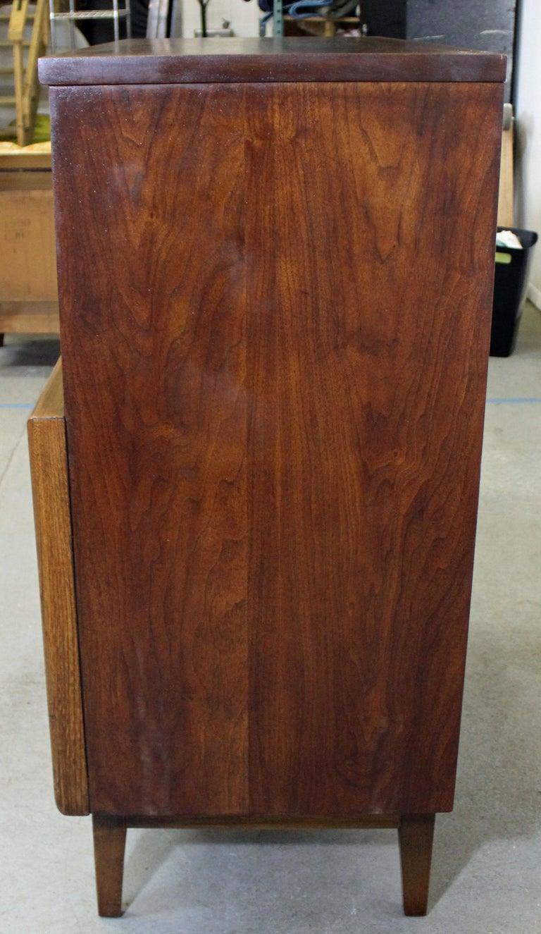 Mid-20th Century Mid-Century Modern United Diamond Front Walnut Tall Chest Dresser For Sale