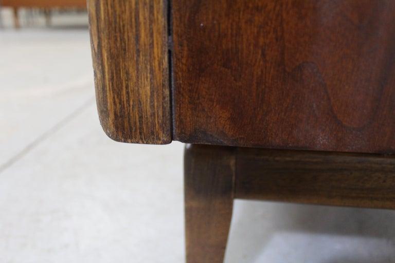 Mid-Century Modern United Diamond Front Walnut Tall Chest Dresser For Sale 1
