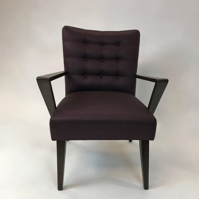 American Mid-Century Modern Upholstered Armchair For Sale
