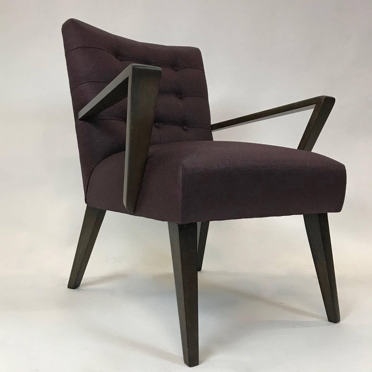 Mid-Century Modern Upholstered Armchair In Excellent Condition For Sale In Brooklyn, NY