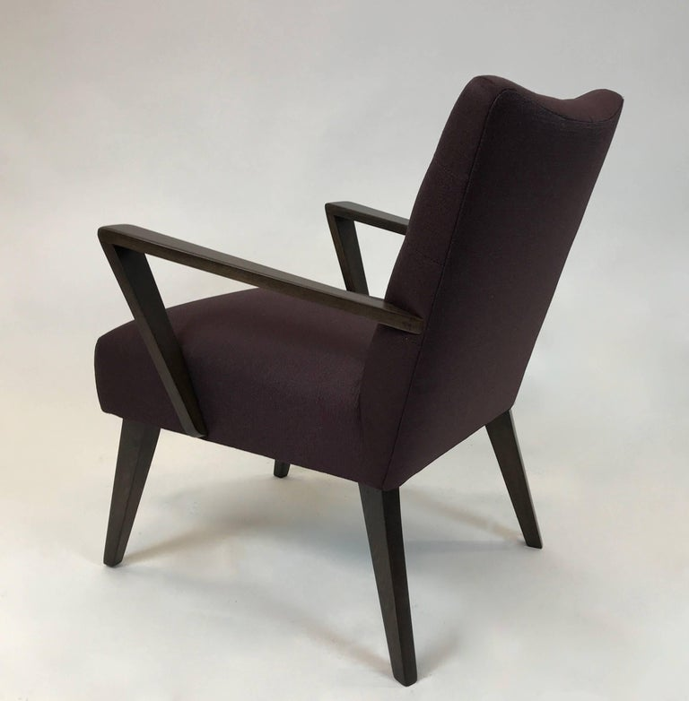 20th Century Mid-Century Modern Upholstered Armchair For Sale