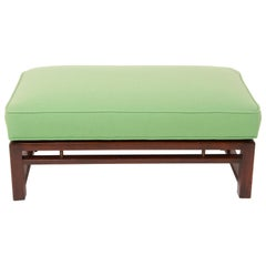 Mid-Century Modern Upholstered Bench Attributed to Edward Wormley for Dunbar