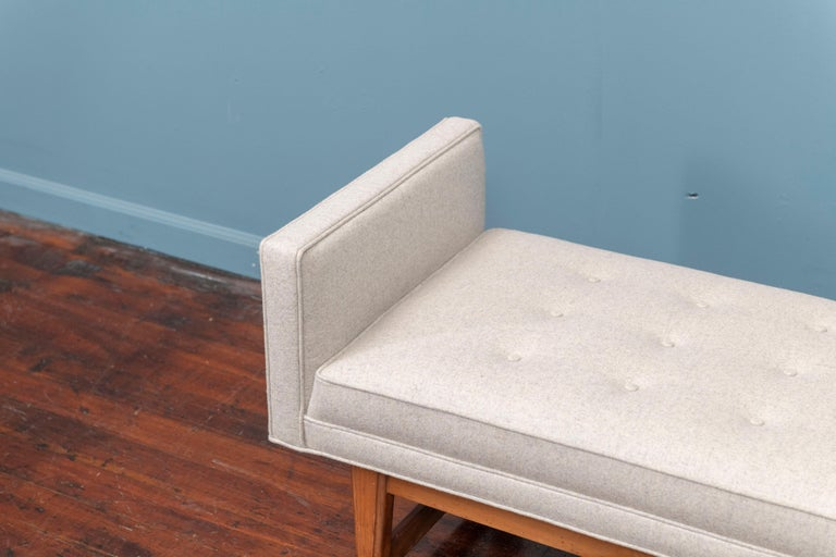 American Mid-Century Modern Upholstered Bench by Selig