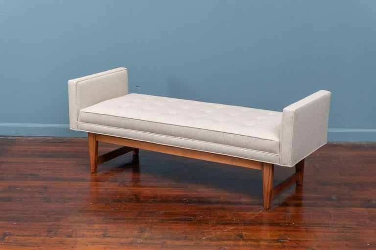 Mid-Century Modern Upholstered Bench by Selig In Good Condition In San Francisco, CA