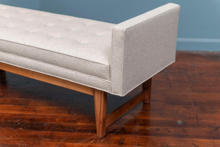 Mid-20th Century Mid-Century Modern Upholstered Bench by Selig