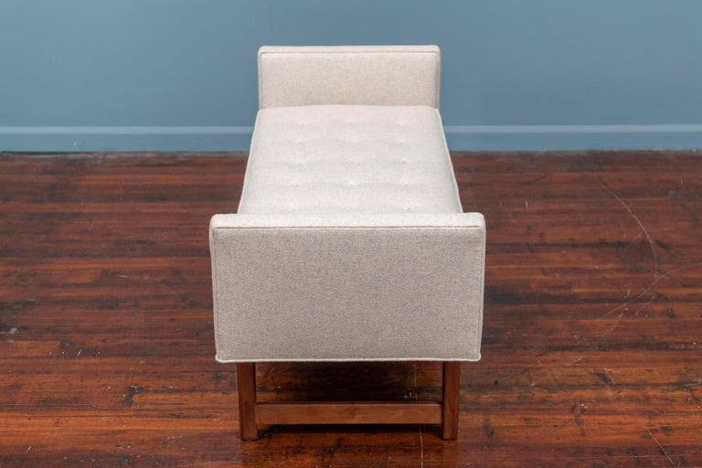Mid-Century Modern Upholstered Bench by Selig 1