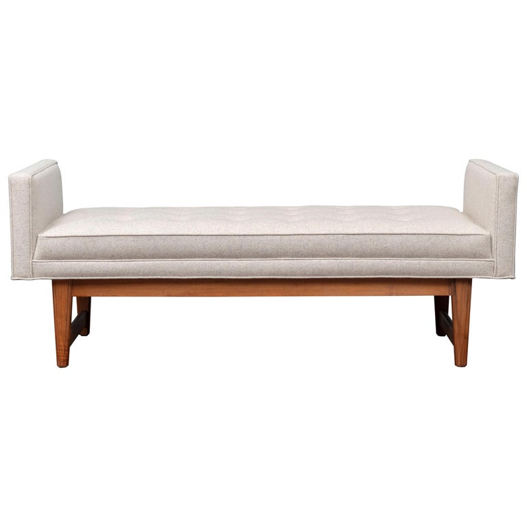 Mid-Century Modern Upholstered Bench by Selig