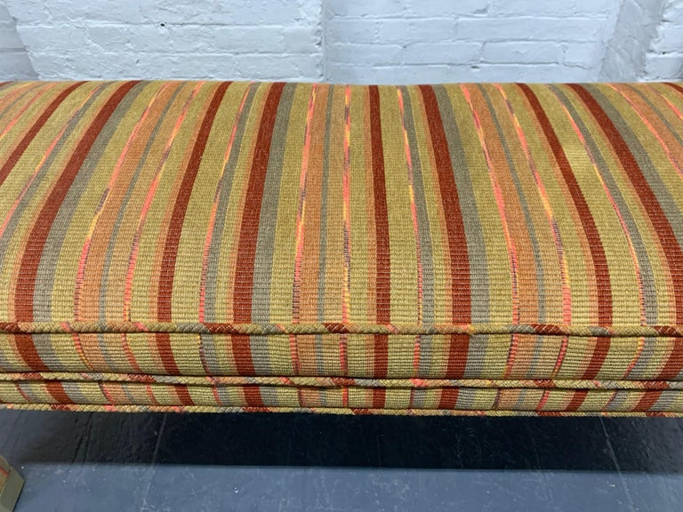 Mid-Century Modern Upholstered Bench In Good Condition For Sale In New York, NY