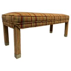 Mid-Century Modern Upholstered Bench
