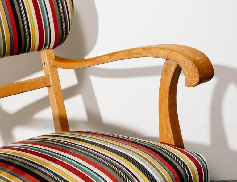 Mid-Century Modern Upholstered Lounge Chair 2