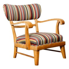 Mid-Century Modern Upholstered Lounge Chair