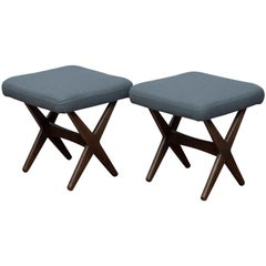Folke Ohlsson for DUX Upholstered Stools