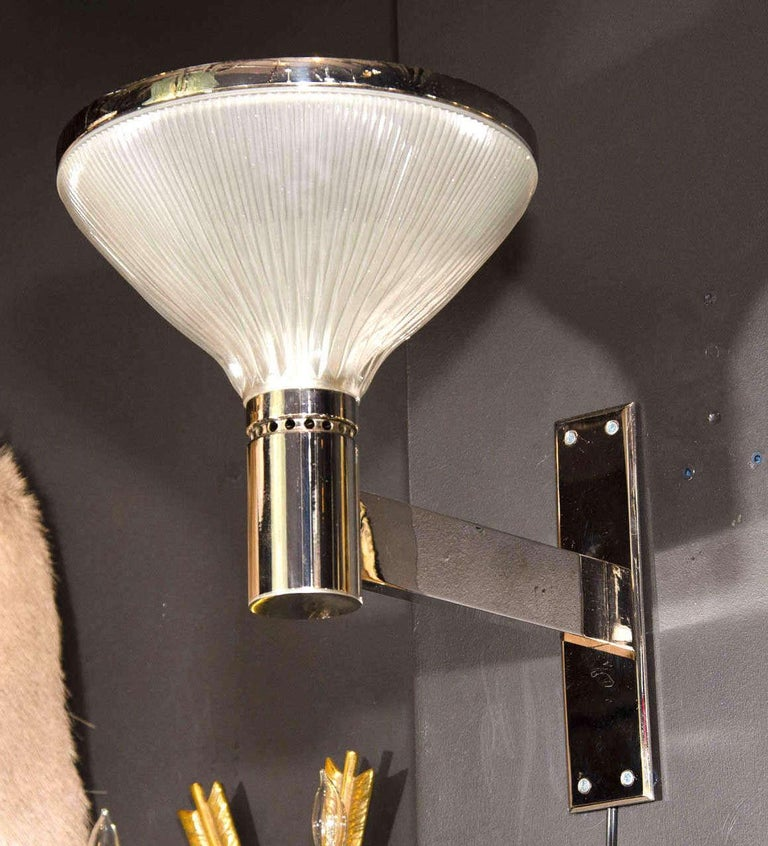 Mid-Century Modern Uplight Sconces by Sergio Mazza for Artemide, 1960s In Good Condition For Sale In Miami, FL