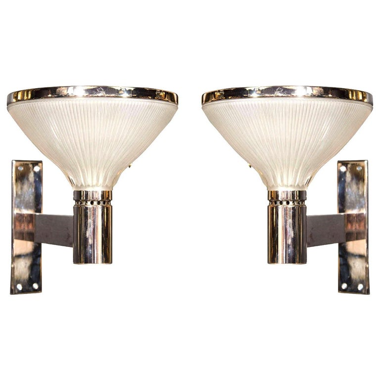 Mid-Century Modern Uplight Sconces by Sergio Mazza for Artemide, 1960s For Sale