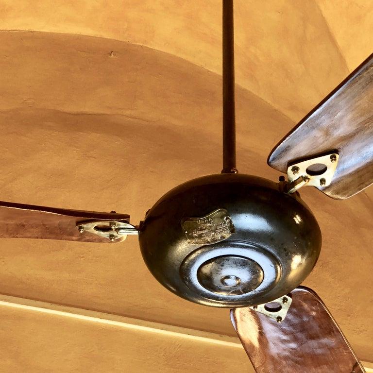 Mid Century Modern Ceiling Fan: Mid-Century Modern Usha Cast Iron Ceiling Fan By Jay