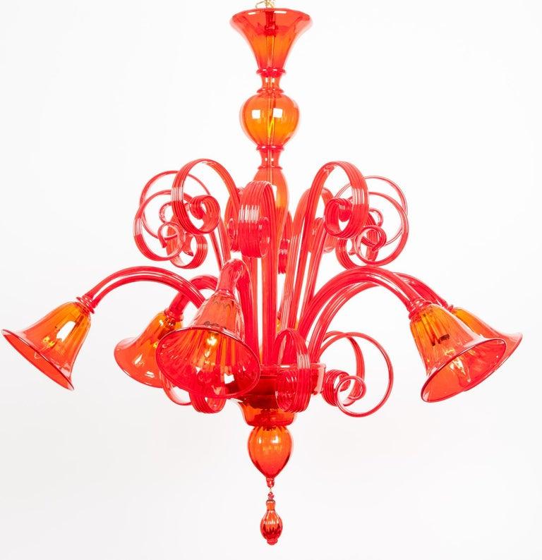 Mid-20th Century Mid-Century Modern Venetian Crystal Chandelier For Sale