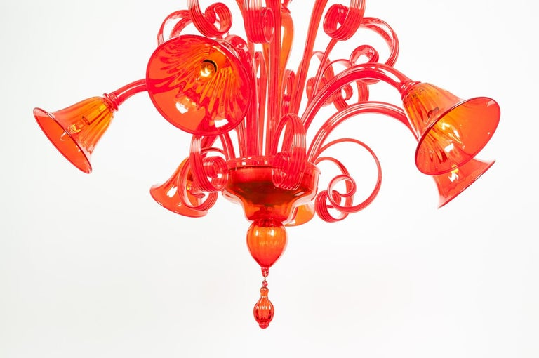 Mid-Century Modern Venetian Crystal Chandelier For Sale 1