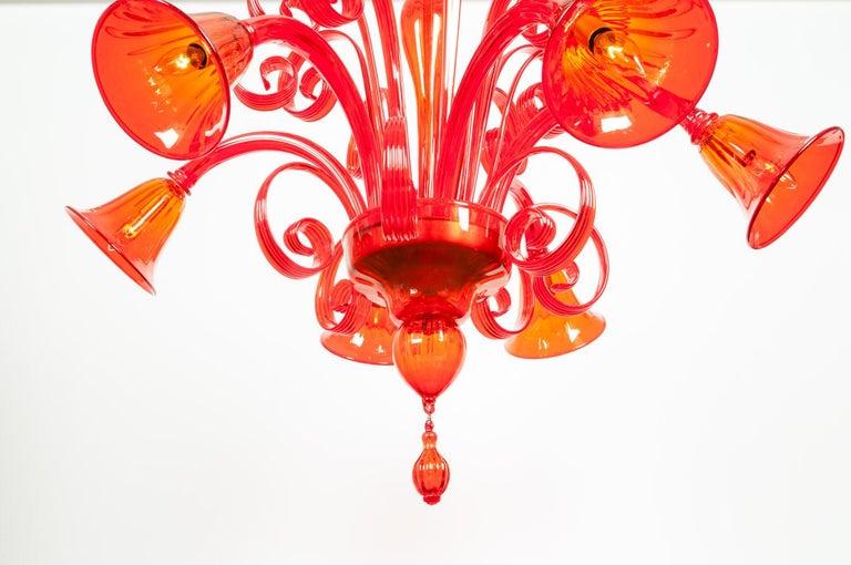 Mid-Century Modern Venetian Crystal Chandelier For Sale 2