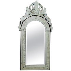 Mid-Century Modern Venetian Etched and Beveled Mirror, 1950s