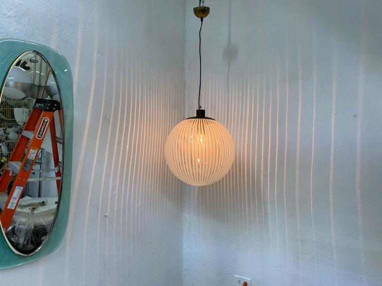 Mid-Century Modern Venini,´Tessuto´Chandelier, circa 1970 in Murano Glass In Excellent Condition For Sale In Merida, Yucatan
