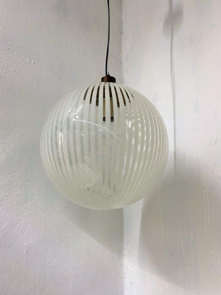 Mid-Century Modern Venini,´Tessuto´Chandelier, circa 1970 in Murano Glass For Sale 2