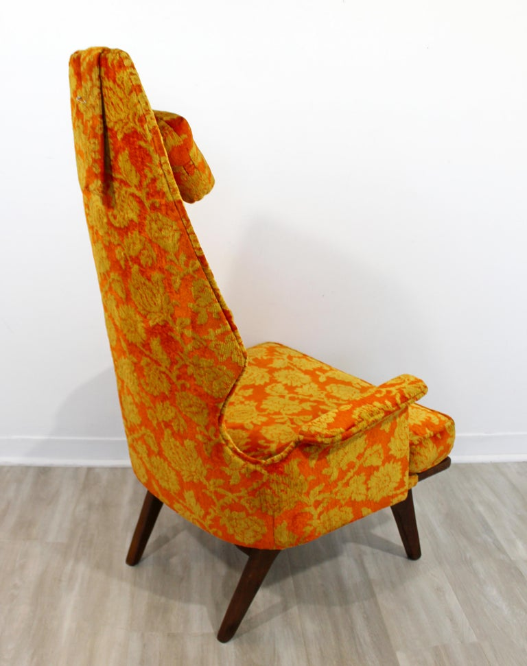 Fabric Mid-Century Modern Vintage Adrian Pearsall High Back Accent Lounge Chair, 1960s For Sale