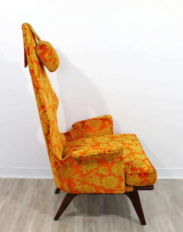 Mid-Century Modern Vintage Adrian Pearsall High Back Accent Lounge Chair, 1960s For Sale 1