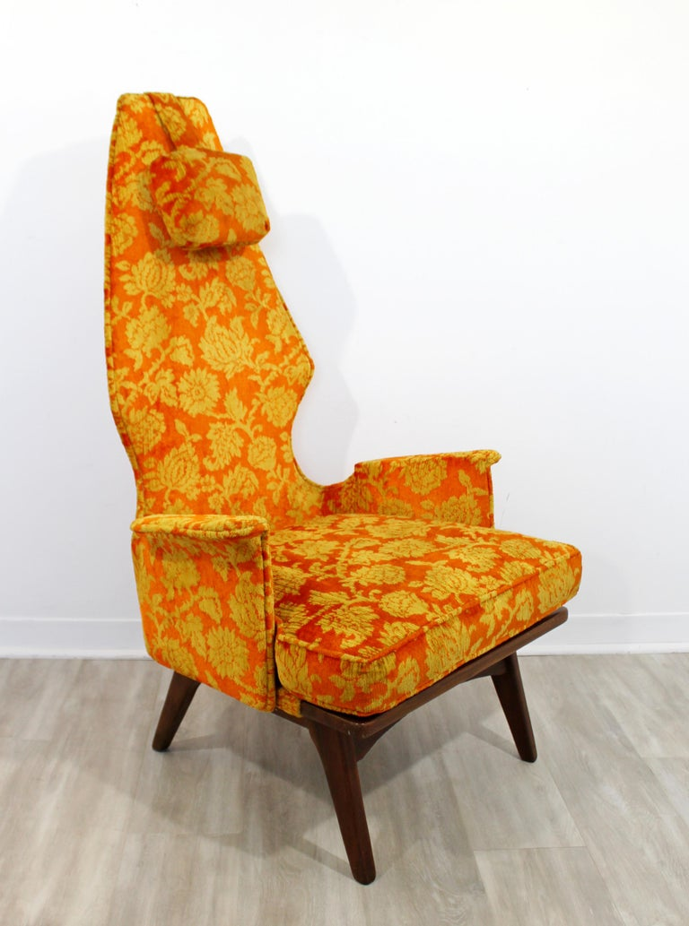 Mid-Century Modern Vintage Adrian Pearsall High Back Accent Lounge Chair, 1960s For Sale 2