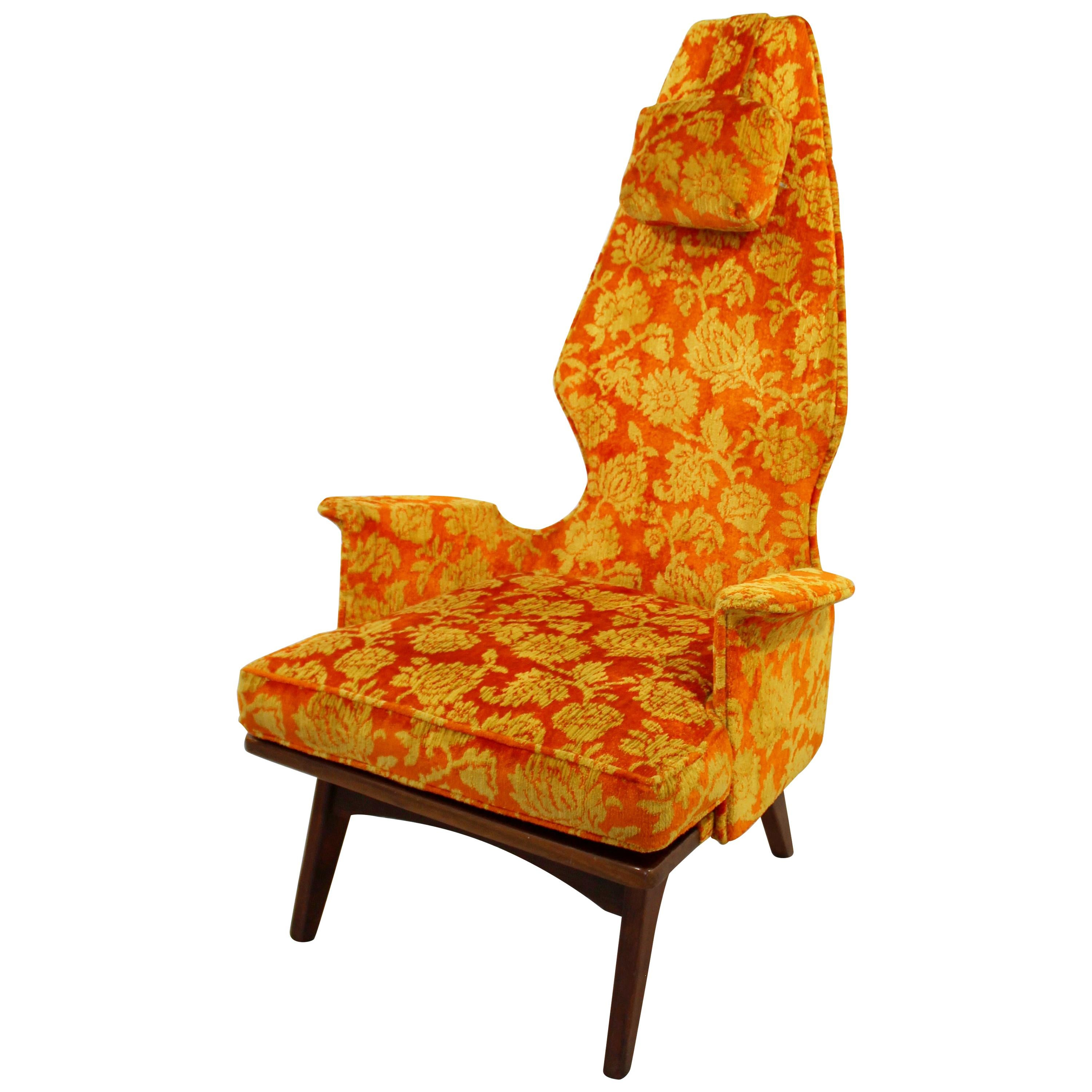 Mid-Century Modern Vintage Adrian Pearsall High Back Accent Lounge Chair, 1960s