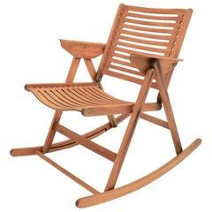 Mid-Century Modern Vintage Beech Rocking Chair Rex by Niko Kralj Slovenia, 1950s