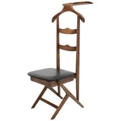 Mid-Century Modern Vintage Beech Valet Chair Ico & Luisa Parisi Attributed