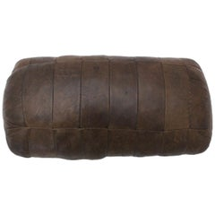 Mid-Century Modern Vintage Brown Leather Patchwork by De Sede Pillow, 1970s