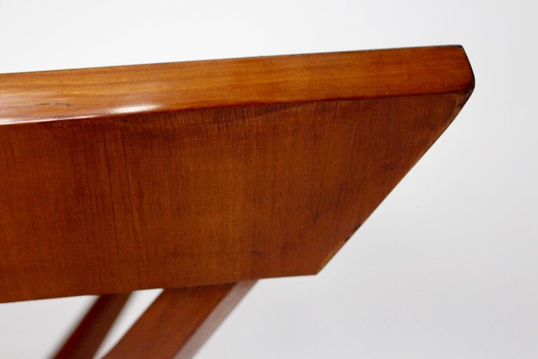 Mid-Century Modern Vintage Cherry Dining Table Franz Schuster Attributed, Vienna For Sale 4