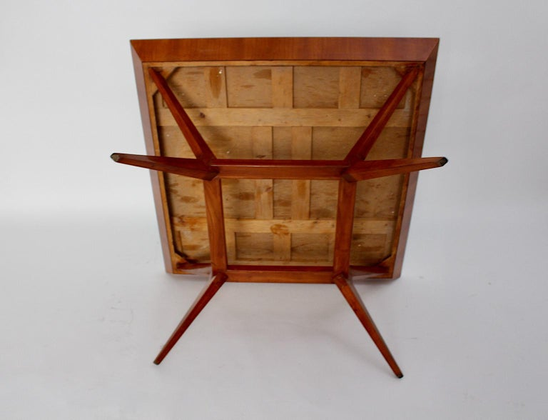 Mid-Century Modern Vintage Cherry Dining Table Franz Schuster Attributed, Vienna For Sale 5