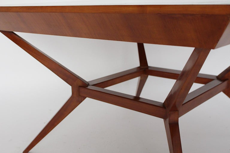 Mid-Century Modern Vintage Cherry Dining Table Franz Schuster Attributed, Vienna For Sale 6