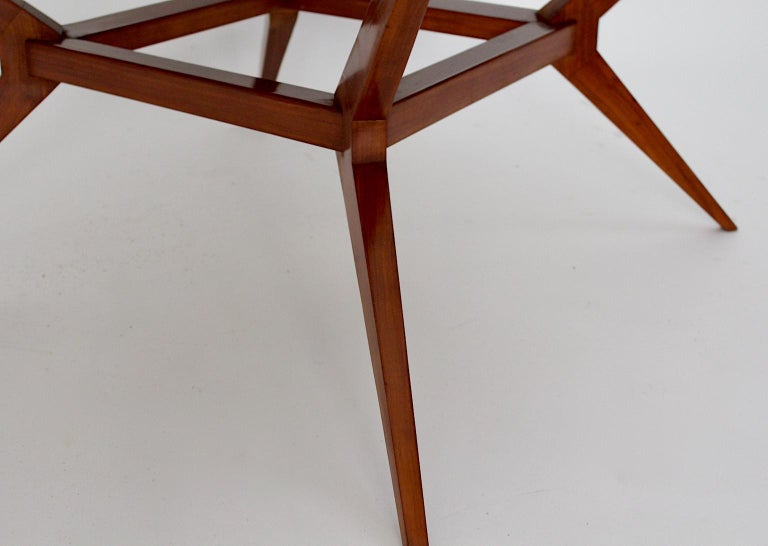 Mid-Century Modern Vintage Cherry Dining Table Franz Schuster Attributed, Vienna For Sale 7