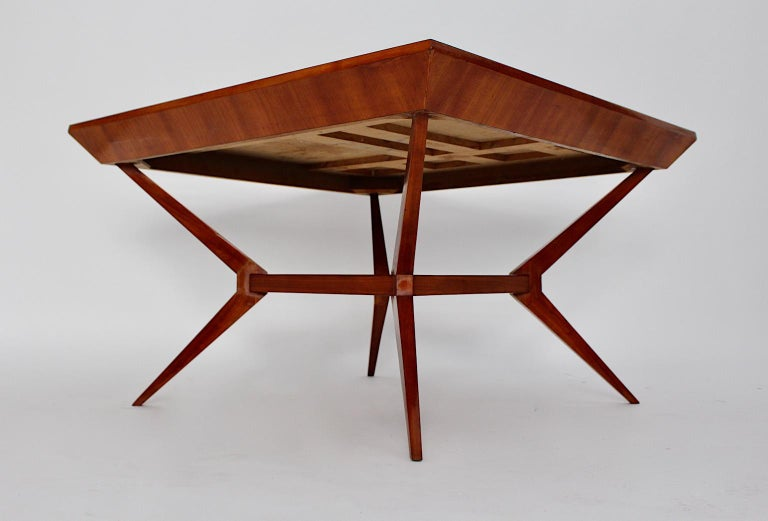 Mid-Century Modern Vintage Cherry Dining Table Franz Schuster Attributed, Vienna For Sale 8