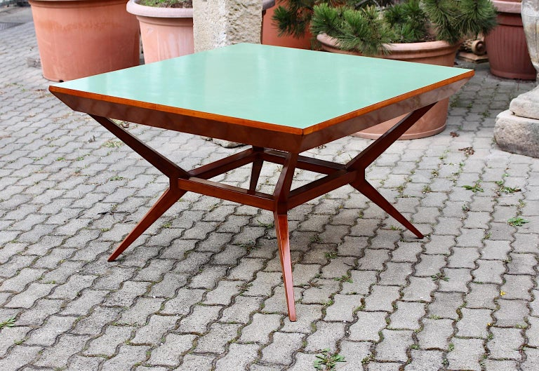 Mid-Century Modern Vintage Cherry Dining Table Franz Schuster Attributed, Vienna For Sale 9