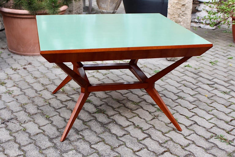 Mid-Century Modern Vintage Cherry Dining Table Franz Schuster Attributed, Vienna For Sale 10