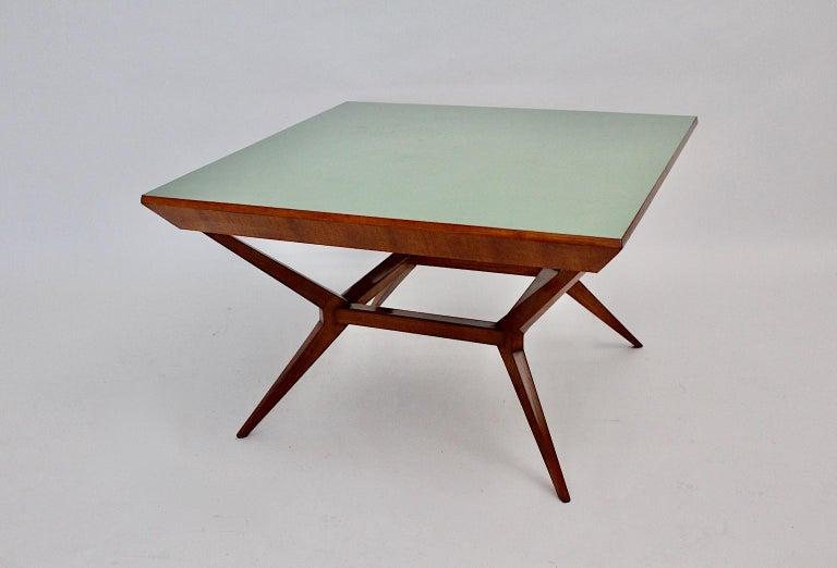 Austrian Mid-Century Modern Vintage Cherry Dining Table Franz Schuster Attributed, Vienna For Sale