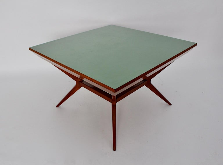 Mid-Century Modern Vintage Cherry Dining Table Franz Schuster Attributed, Vienna In Good Condition For Sale In Vienna, AT