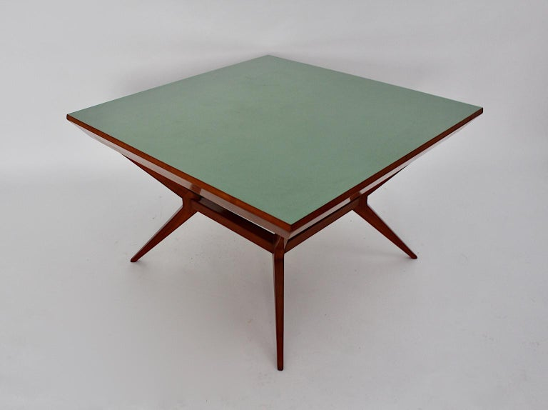 Formica Mid-Century Modern Vintage Cherry Dining Table Franz Schuster Attributed, Vienna For Sale