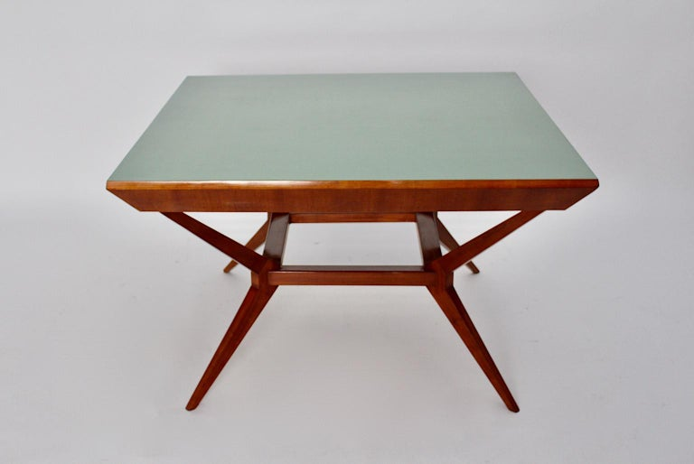Mid-Century Modern Vintage Cherry Dining Table Franz Schuster Attributed, Vienna For Sale 1