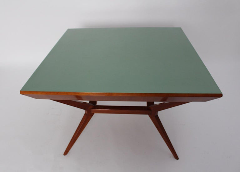 Mid-Century Modern Vintage Cherry Dining Table Franz Schuster Attributed, Vienna For Sale 2
