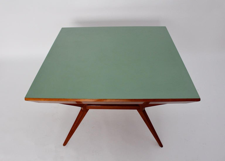 Mid-Century Modern Vintage Cherry Dining Table Franz Schuster Attributed, Vienna For Sale 3